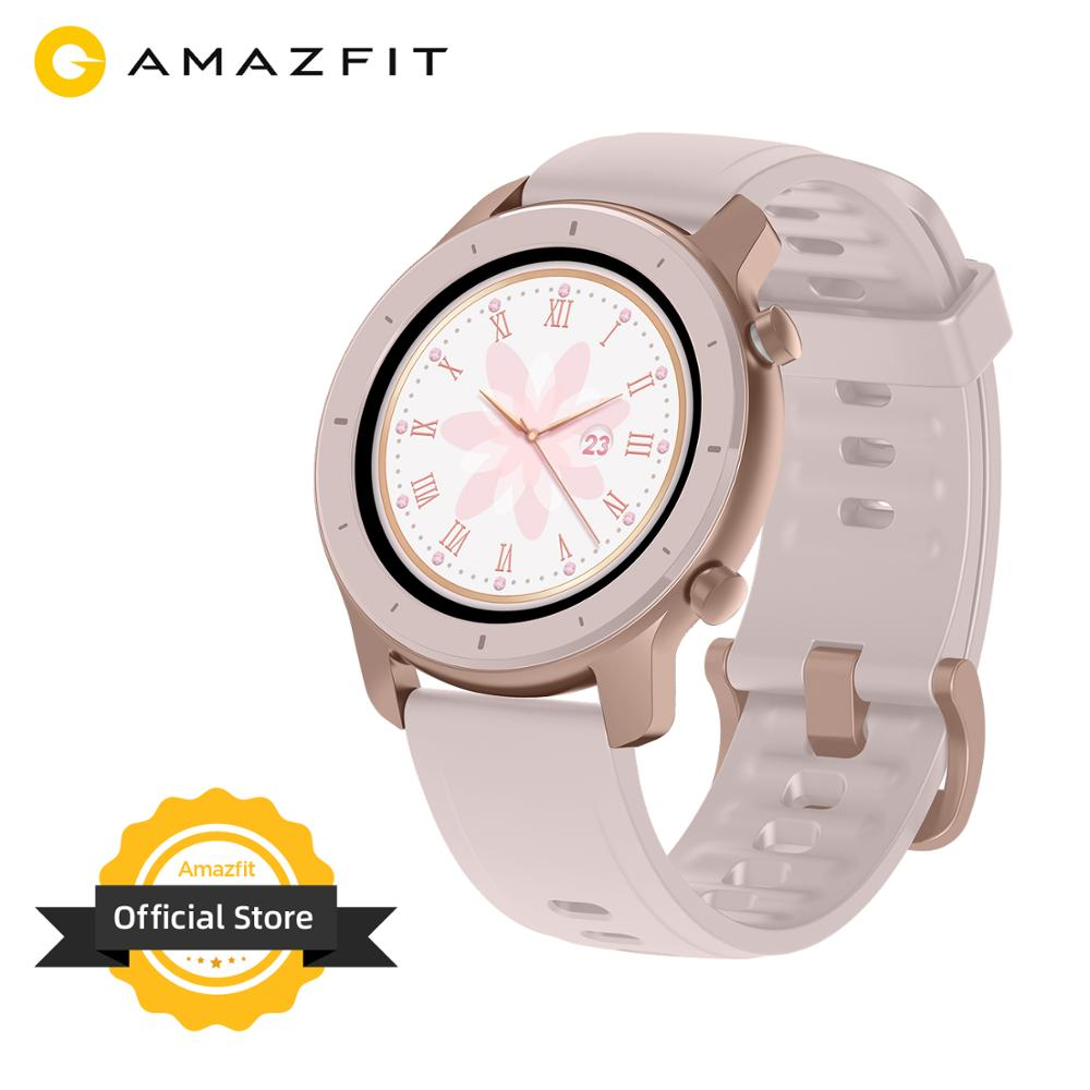In Stock Global Version New Amazfit GTR 42mm Smart Watch 5ATM Smartwatch 12 Days Battery GPS Music Control For Android IOS Phone