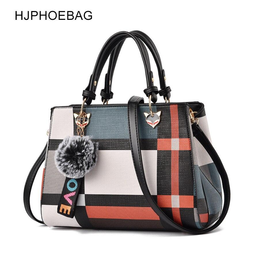 HJPHOEBAG Fashion Women Handbag PU Leather Women Messenger Bags With Ball Toy Female Shoulder Bags Ladies Party Handbags YC233