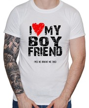 LGBT T-Shirt I Love Heart My Boyfriend Men Guy Gay Pride Valentine Gift Luka Hrvatska Croatia Modric france streetwear hip(China)