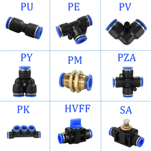 Pneumatic Fittings  PY/PU/PV/PE Water Pipes and pipe connectors direct thrust 4 to 16mm/ PK plastic hose quick couplings