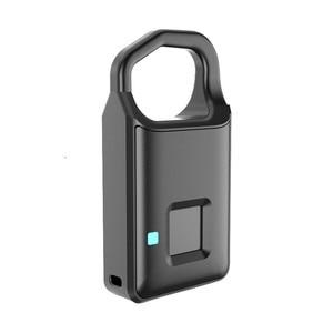 Image 3 - Big Promotion Fingerprint Lock USB Rechargeable Keyless Anti Theft Padlock Suitcase Door Lock Burglar Alarm Security Free Ship