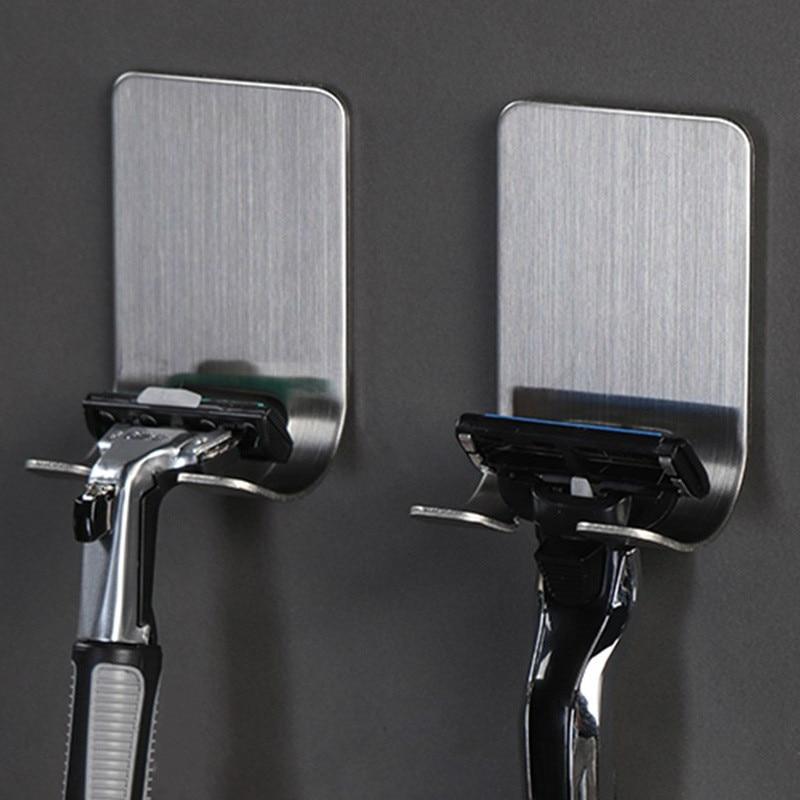 Pongee Beard Shave Knife Rack Boring Hook Bathroom Organizer Wall Mounted Type Hook Bathroom Organizer Accessories Wall BathroomHooks & Rails   -