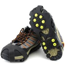 1 Pair Anti-Skid Ice Gripper 10 Studs Climbing Spikes Ice Grips Cleats Crampons Winter Climbing Anti Slip Shoes Cover Crampones