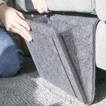 Bedside Hanging Storage Organizer Bed Bag Pocket Felt  Dorm Room Book Magazine TV Remote Caddy Bunk Holder For Table Sofa