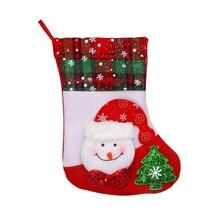 цена Home Patry Mini Socks Christmas Stocking Santa Claus Candy Christmas Gifts Bag Xmas Tree Hanging Decor Christmas warm Stockings в интернет-магазинах