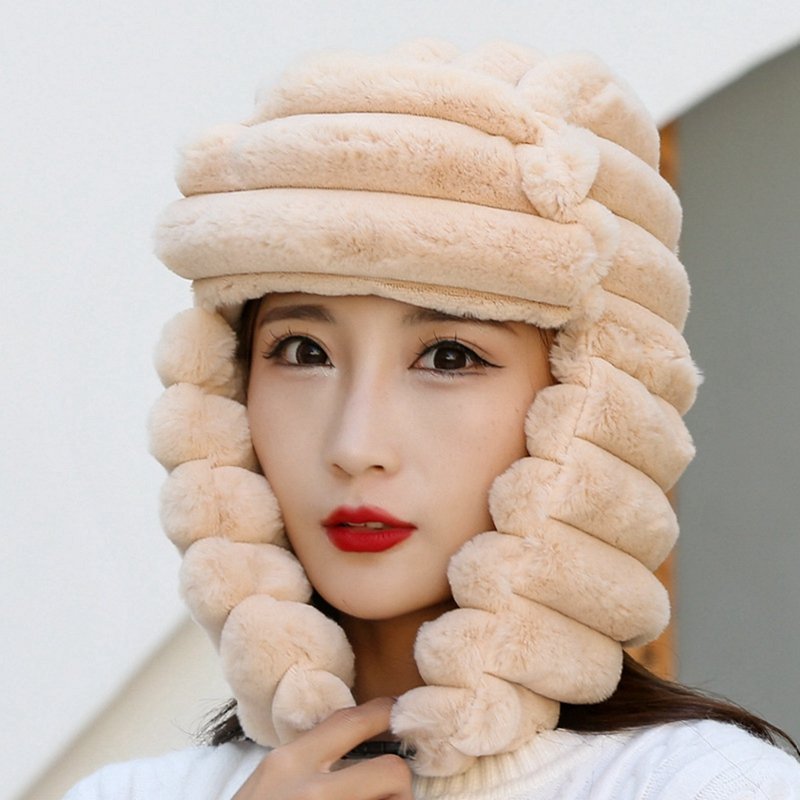 Hat Female Winter Lei Feng Faux Fur Fox Fur Hat Dome Mongolia Hat Russian Snow Cap Thickened Warmth Faux Fur