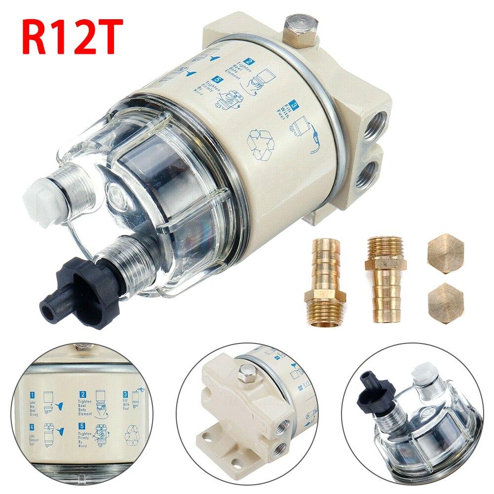 R12T 보트 마린 스핀 온 연료 필터 워터 세퍼레이터 잔디 깎는 기계 디젤 엔진 가솔린 발전기 엔진 자동차 부품
