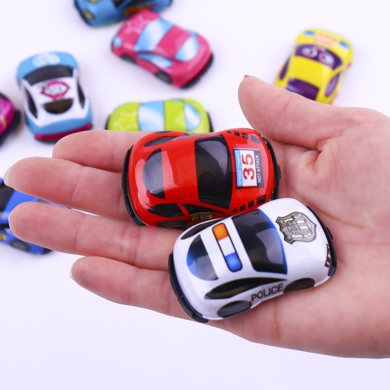 5 PCS/ Lot Pull Back Car Toys Racing Cars Baby Mini Cartoon Small Bus Truck Air Plane Colorful Kids Toys for Children Boy Gifts image