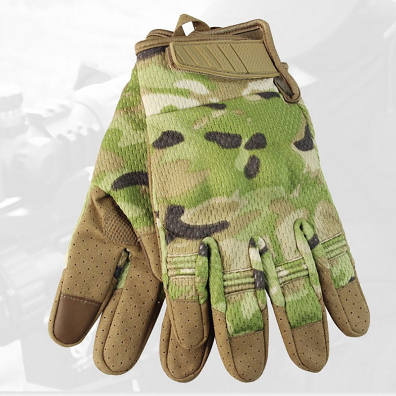 Camouflage Army Tactical Hunting Gloves Touch Screen Motorcycle Bicycle Gloves Full Finger Military Hiking Bike Cycling Gloves