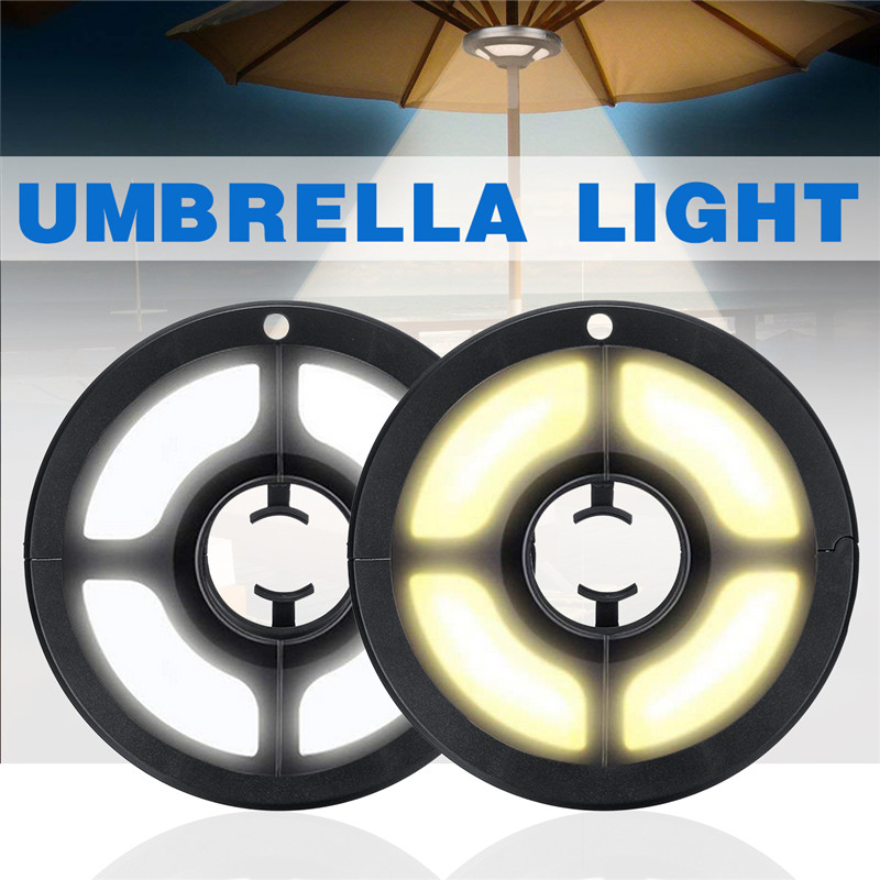 USB Outdoor Poles Tent Camping Lights Rechargeable Parasol led Lamp for Lantern Beach Garden Patio Umbrella Light