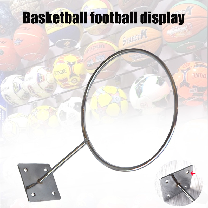 Basketbal Soccer Holder Wall Mount Footbal Volleyball Ball Display Storage Rack Stand FK88