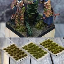 Escena de modelo de simulación hecho a mano, Escala de arbusto simulado, hierba, césped, aguja, modelo de césped, materiales de construcción DIY