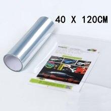 Envoltório película protetora transparente pára-choques proteção vinil 120*40cm auto