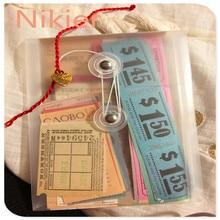 44/68 PC Vintage Ticket Stickers Retro Receipt Daily Plan Diy Scrapbooking Label Travel Junk Journal Ablum