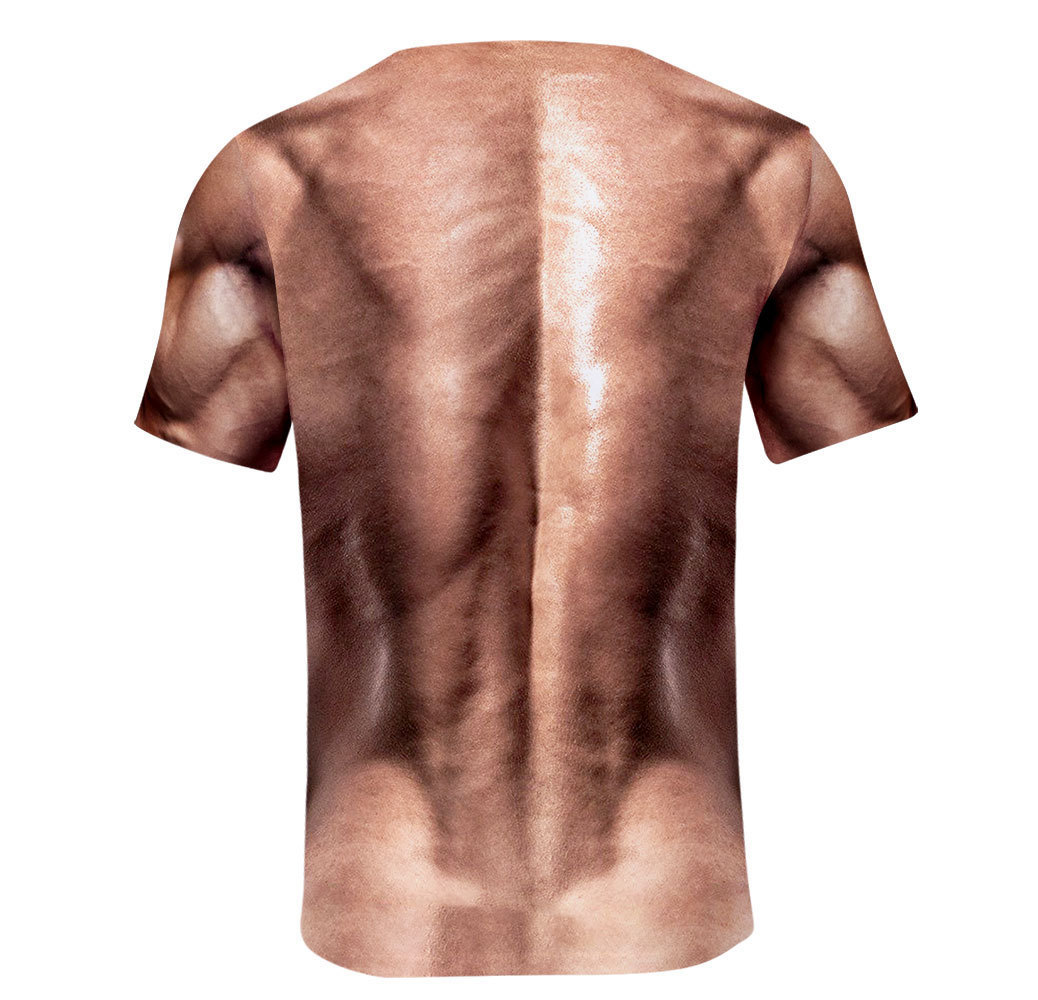 Cool Men's T-shirt Fashion fitness muscle short sleeve 3D printing casual - mens-fashion