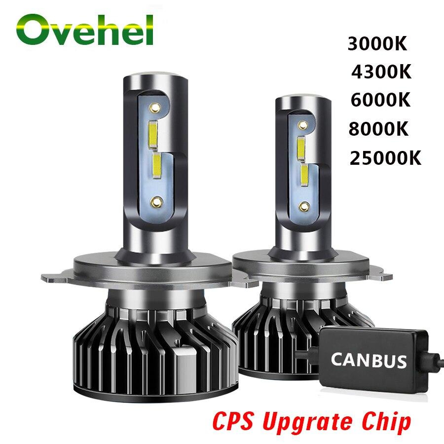 OVEHEL светодиодный головной светильник с чипом CSP 20000LM Canbus 110W 6000K H4 светодиодный H7 H1 H3 H8 H9 H11 9005 HB3 9006 HB4 Автомобильные фары Светильник лампы