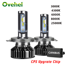 OVEHEL LED Headlight CSP Chips 20000LM Canbus 110W 6000K H4 LED H7 H1 H3 H8 H9 H11 9005 HB3 9006 HB4 Car Headlamp Light Bulbs