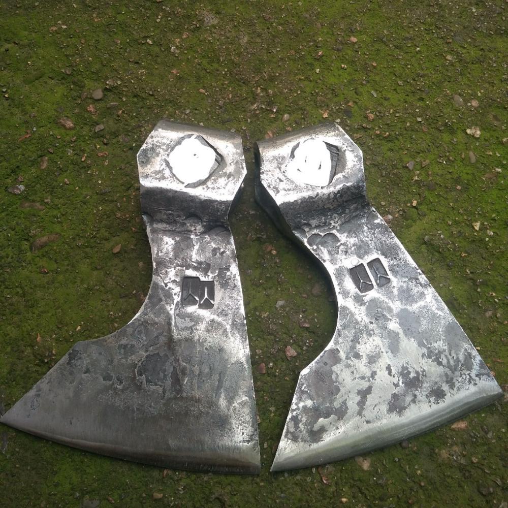 Hand Forged Fire Warden Pickaxe Hatchet Axe Head