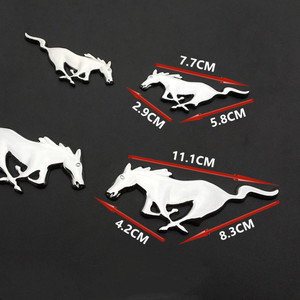 Image 5 - 3D Metal Running Horse Decal Car Decoration Body Car Stickers Accessories Universal For Ford Mustang Shelby GT Car Styling