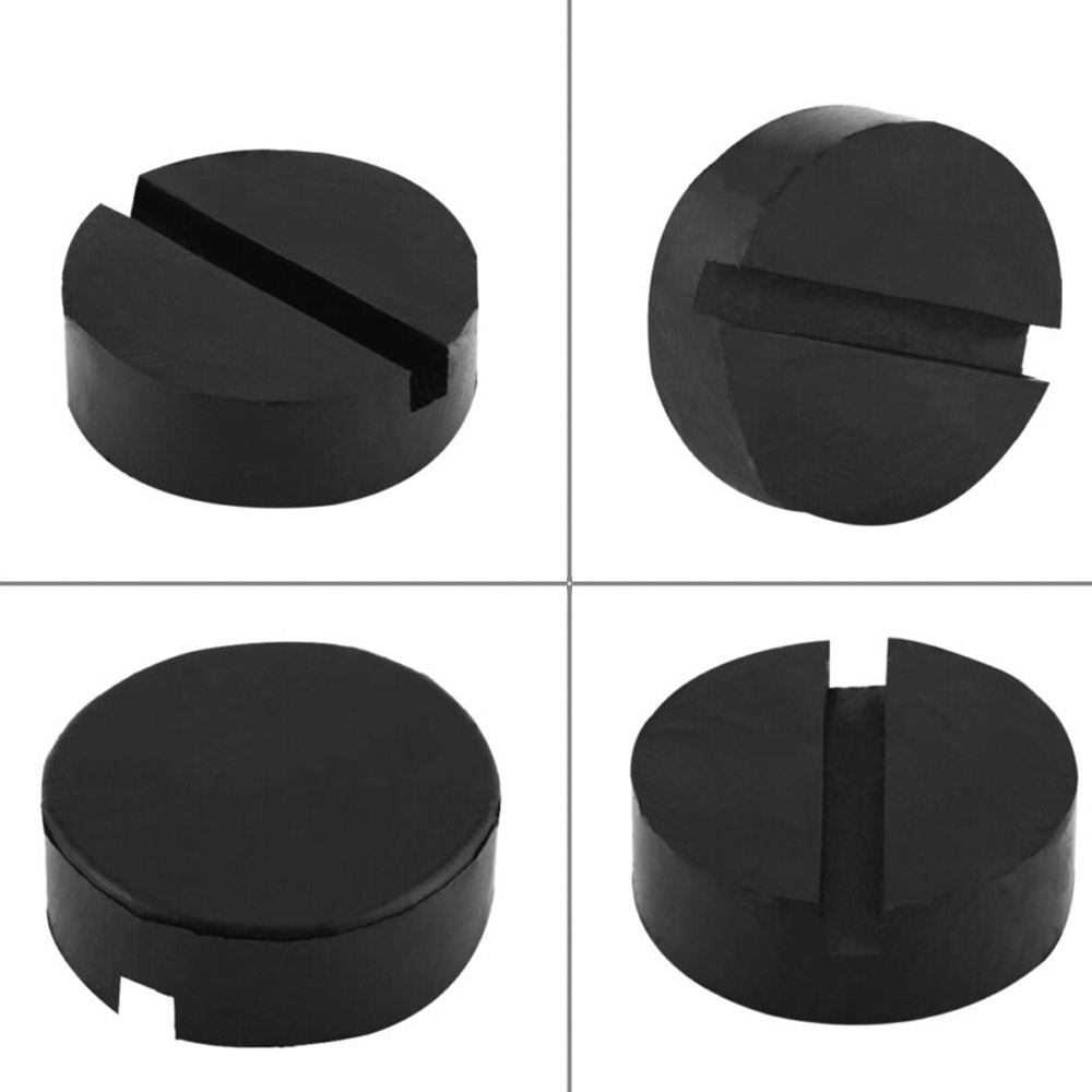 Universal Car Jack Pad Slotted Rail Floor Lift Plate Trim Black Support Adapter