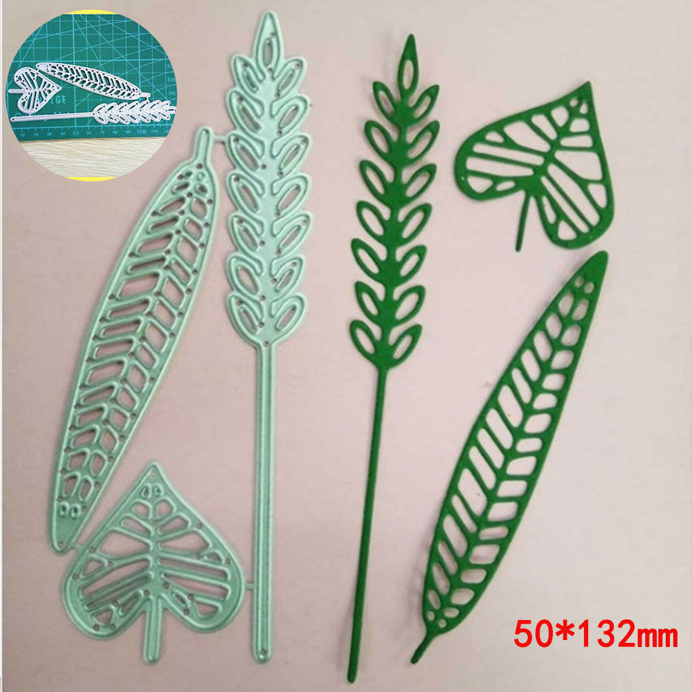 Metal Cutting Dies For Scrapbooking Dies Cut Leaf Vine Branches Craft Stencil Handmade Paper Cards Making Model Decoration