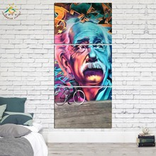 3 Pieces Einstein Figure Pictures Poster Modern Home Wall Art Decor Canvas Picture Prints and Posters Painting on