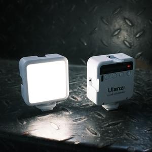 Image 5 - Ulanzi Mini Portable LED Video Light Triple Cold Shoe Rechargeable Vlog Fill Light Photography Lighting Tripod Kit CRI95+
