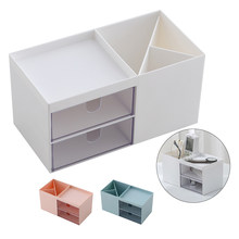 White Nordic Pen Office Storage Box Plastic Desktop Makeup Cosmetic Sundries Drawer Articles Organizer(China)