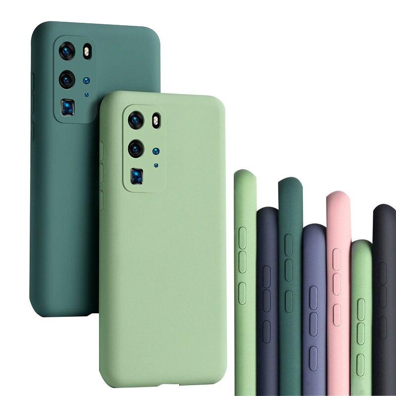 Funda de silicona líquida para Samsung S20 Ultra S20 Plus S20, funda blanda a prueba de golpes para Galaxy S20 Ultra, funda protectora para cámara