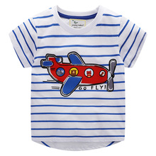 T-Shirt Girls Tops Tees Baby-Boy Summer Kids Cotton Cartoon Plane for Frog Clothing Wholesale