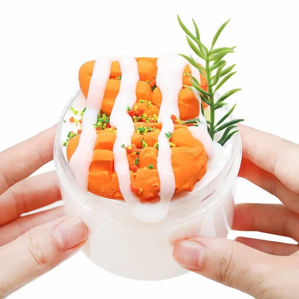 300 Ml Jumbo Fruit Slice Kristal Lendir Pesona Lembut Lembut Pasir Mango Cloud Slime Clay Mainan Polimer Antistress Lumpur Sihir plastisin