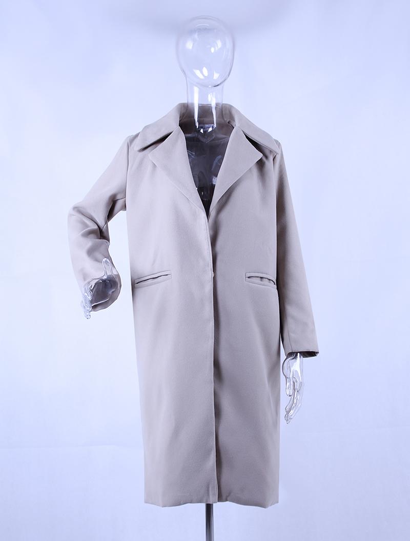 1PC Spring Autumn Women's Wool Coat New Fashion Long Woolen Coat Single Breasted Slim Type Female Autumn Winter Wool Coats 21