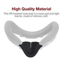 Vr fone de ouvido nariz capa almofada de bloqueio de luz para oculus quest 2 barreira de luz psvr 1650 super para htc vive rift s