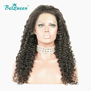 Image 2 - BeQueen 360 Human Hair Wigs Peruvian Deep Wave Wig Pre plucked Hairline Human Hair Wig For Black Women