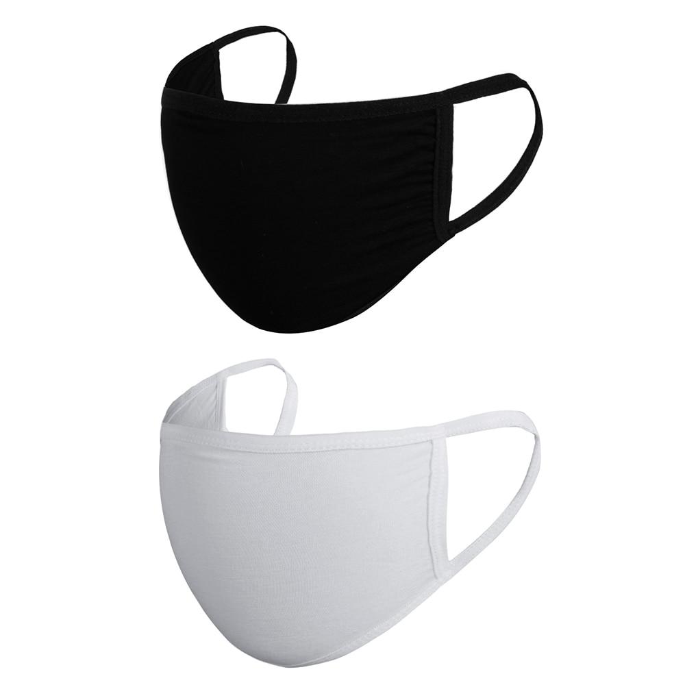 1 Pcs Cotton Masks Unisex Washable Reusable Breathable Mask Respirator Dustproof Mouth Muffle Black/White