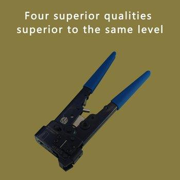 YG-808 o wysokiej wytrzymałości zaciskarka zaciskarka uniwersalna BNC RCA F złącze 6 koncentryczne do zaciskania kabli szczypce do kabli tanie i dobre opinie ONLENY CN (pochodzenie) Kabel Crimper none