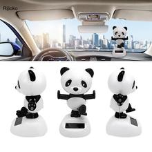 Car Decoration Toy Solar Powered Dancing Animal Kungfu Panda Swing Animated Dancer Toy Gifts Creative Home Cartoon Children Toy