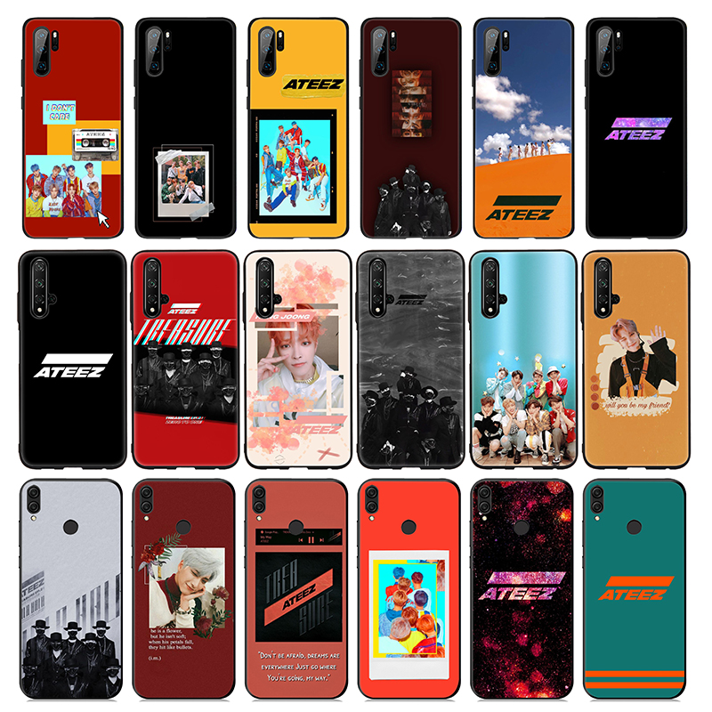 ATEEZ K Pop suave de silicona caso para Huawei P30 P20 P10 Lite Pro P Smart Plus 2018 2019 P30 Pro P Smart Z 2018, zapatos de cuero de alta calidad para hombres, zapatos informales para hombres, zapatos de cuero, mocasines, zapatillas de deporte de moda