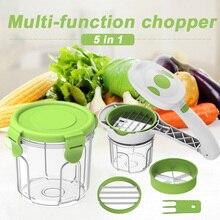 Портативный овощерезка пищевой пластмассы 5 в 1 DIY питая кухонная посуда измельчитель для картофеля очищающий от кожуры Многофункциональный