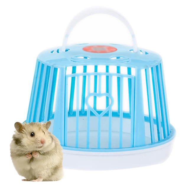 Large Capacity Mini Cute Hamster Cage Single Layer Portable Hamster Habitat Pet Cage For Small Animals Pet Carry Supplies 1