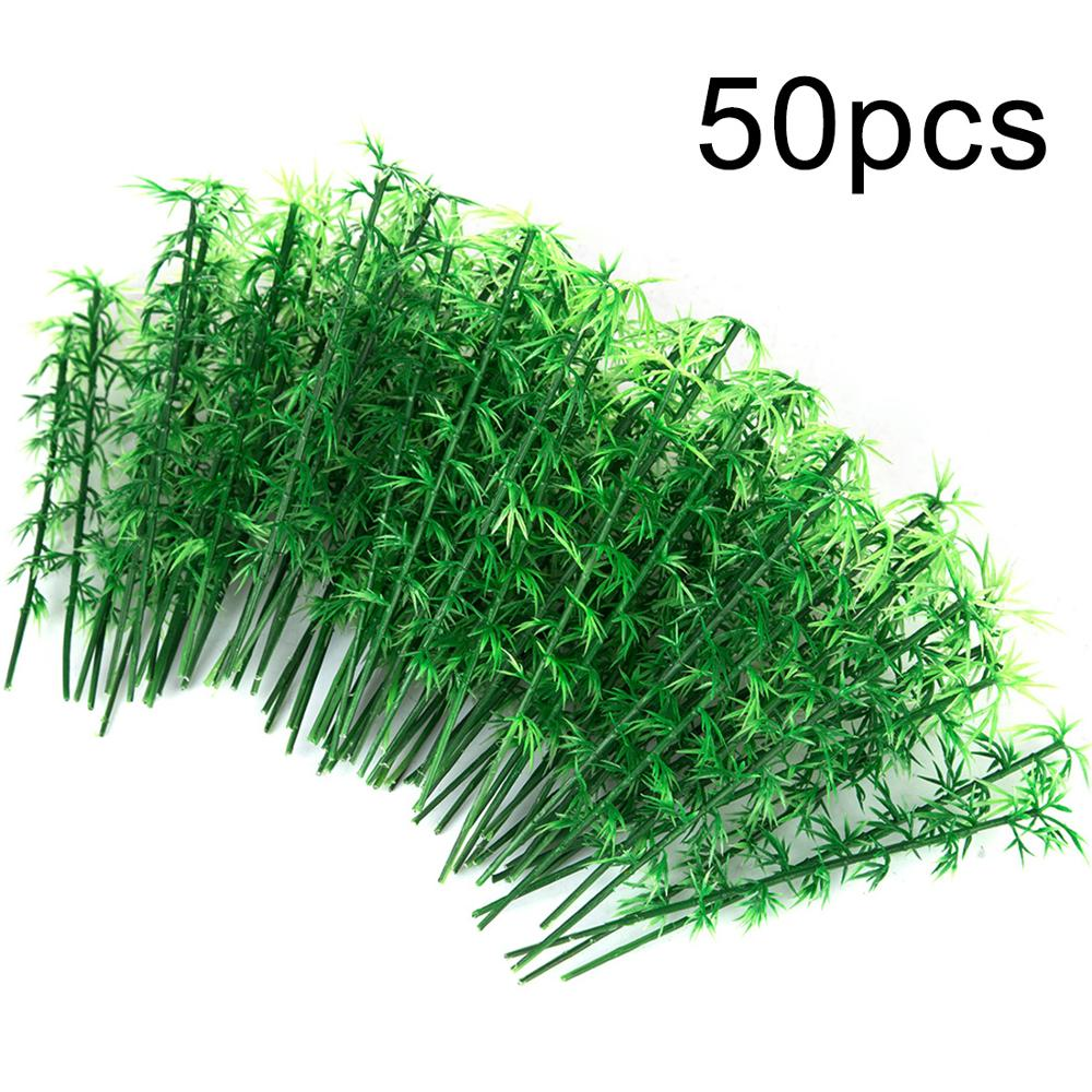 50Pcs/100pcs 12cm/13cm/15cm Plastic Miniature Model Tree Landscape Bamboo Tree Sand Table Model Decor Accessories Toys Hobbies