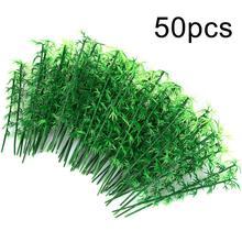 50Pcs/100pcs 12cm/13cm/15cm Plastic Miniature Model Tree Landscape Bamboo Tree Sand Table Model Deco