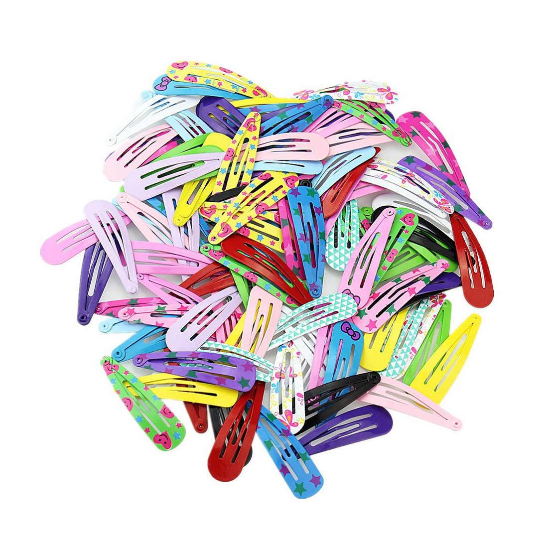 1 карта 10 шт. бант Детские заколки для волос малыши печать шпильки милые мини маленькие дети повязка с цветами аксессуары для волос