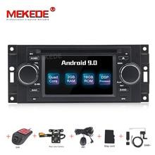 MEKEDE Radio Multimedia con GPS para coche, Radio con reproductor, android 9,0, 2 + 16G, 5 pulgadas, navegador, para Chrysler/300C/Dodge/Jeep/Commander/Compass/Grand Cherokee