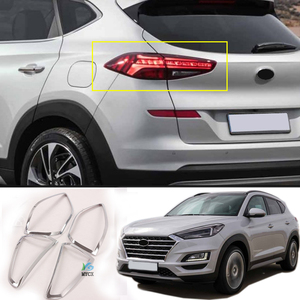 For -Hyundai Tucson 2019 2020 2021 ABS Chrome Rear Tail Light Lamp Cover Trim 4PCS