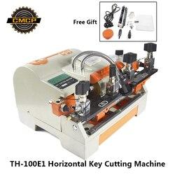 Новейшая TH-100E1 машина для резки ключей для дверей и автомобильных ключей 220 В горизонтальная копировальная машина для ключей дублирующая ма...