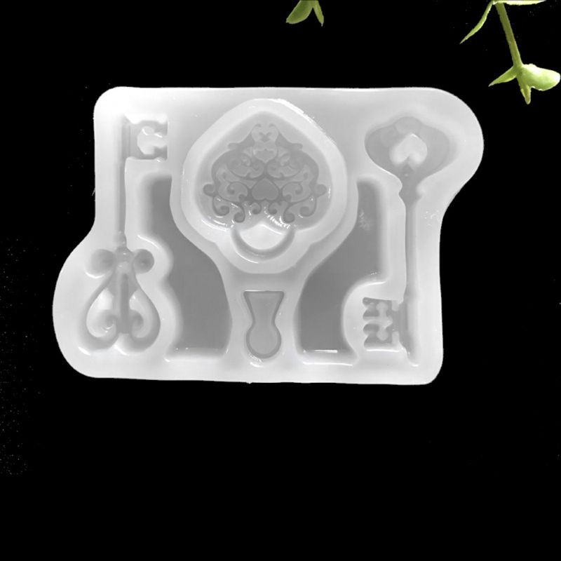 Key Lock Shape Silicone Mold Fondant Baking Jewelry Chocolate Cake Decor Mold