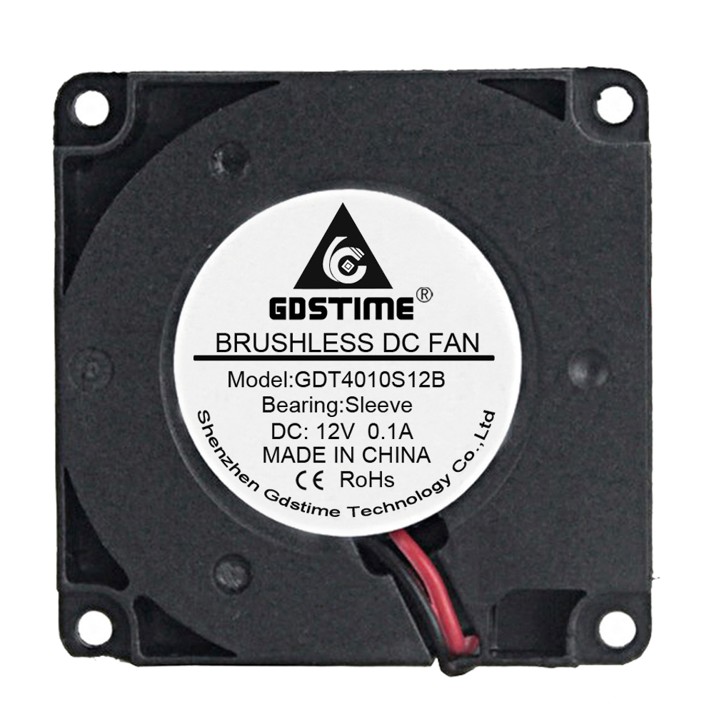 10pcs Gdstime DC <font><b>12V</b></font> 4cm <font><b>40mm</b></font> x 10mm 4010 High Speed Turbo Brushless Blower Cooling <font><b>Fan</b></font> 40x40x10mm image