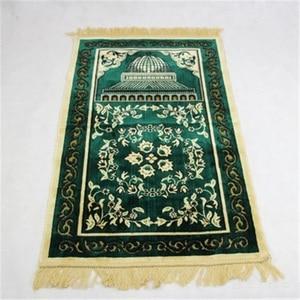 Image 3 - Новый Цветочный мусульманский молящийся коврик, мусульманский коврик для молитв, покрывало голубого, зеленого цвета, салат, мусалла, Дорожный Коврик для молитвы