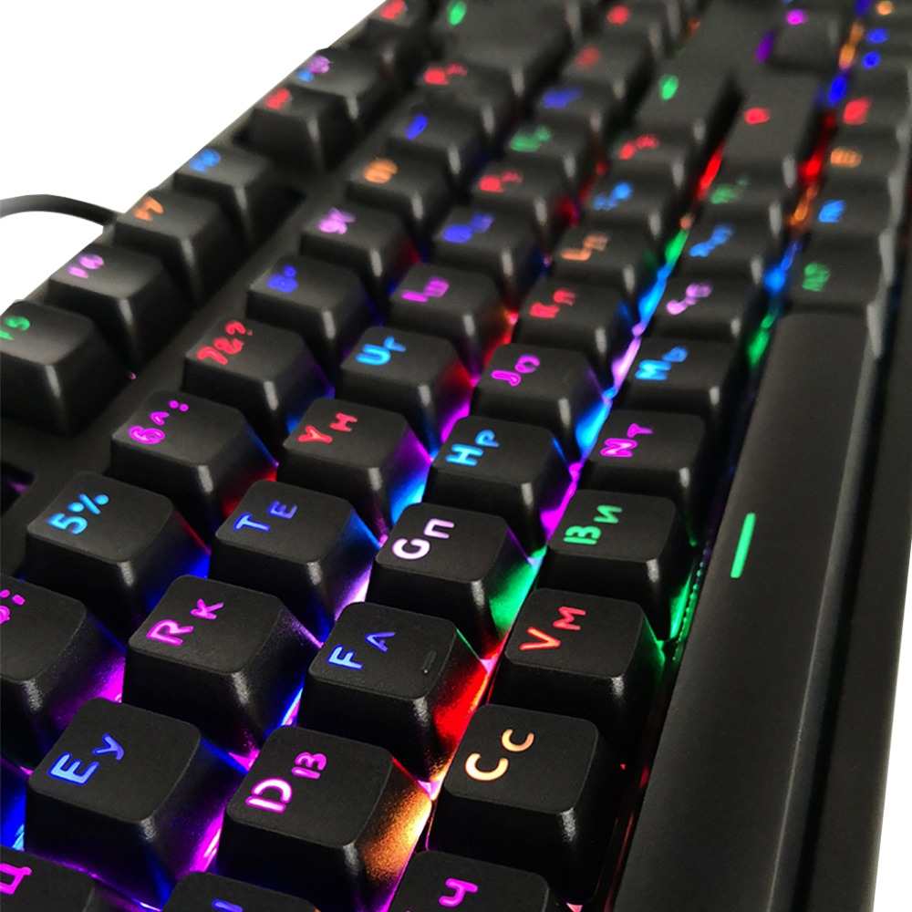 104 Keycaps Russian Translucent Backlight Keycaps For Cherry MX Keyboard Switch Whosale&Dropship